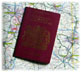 Passport and Map