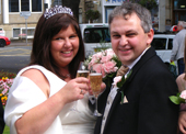 Champagne Toast Bride and Groom